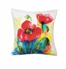Tulip Watercolor Throw Pillow