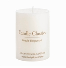 Unscented White Pillar Candle