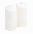 Unscented White Pillar Candles Duo