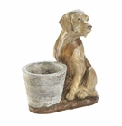 Vested Retriever Dog Flower Pot
