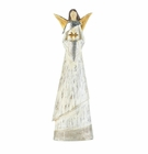 Weathered White Angel Figurine