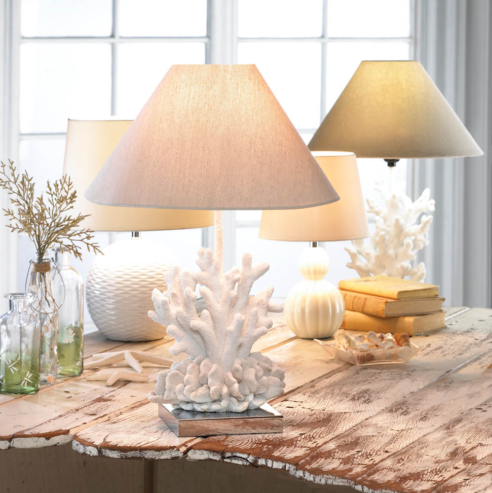 Home Home Decorating Accessories White Coral Lamp