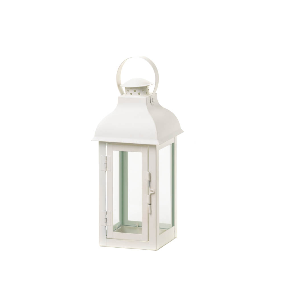 Medium White Gable Lantern Wholesale At Koehler Home Decor