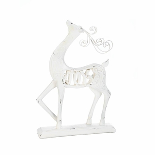 White Joy Reindeer Figurine