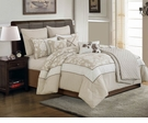 White Rose Queen Bedding Set - 10 Pc.