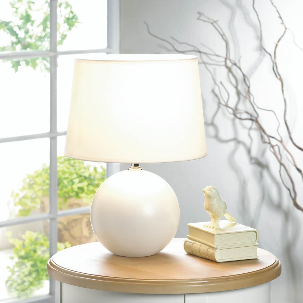 White Round Base Table Lamp Wholesale At Koehler Home Decor