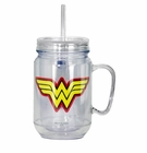 Wonder Woman Mason Jar with Lid