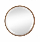 Wood Frame Round Wall Mirror