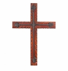 Wood Iron Wall Cross