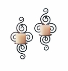 Wrought Iron Candle Wall Sconces