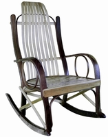 Amish Bentwood Walnut and Maple Rocking Chair