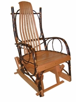 Amish Hickory & Oak Single Glider Rocker