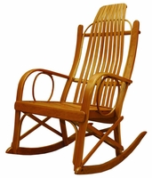 Amish Solid Cherry Bentwood Rocking Chair