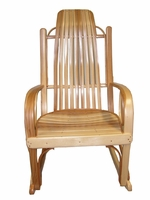 Amish Solid Hickory Bentwood Rocking Chair