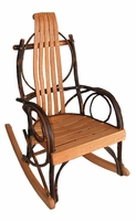 Rustic Bentwood Rocker for a Child with Oak slats
