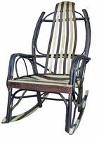 Rustic Bentwood Rocker with Walnut and Maple Slats