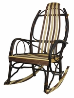 Bentwood Rocker with Walnut and Maple Slats