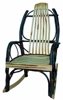 Rustic Bentwood Rocker with Wormy Maple Slats