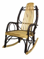 Bentwood Rocker with Wormy Maple Slats
