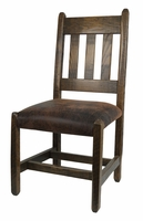 Barnwood Dining Chair with upholstered seat