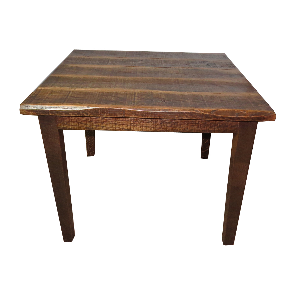 rustic distressed oak 30 high kitchen table with 40x40 top
