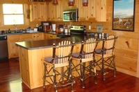 Rustic Hickory and Oak Bentwood 24' Bar Stool
