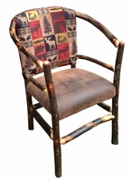 Rustic Hickory Hoop Dining Chair or Side Chair with the Cabin Collection Fabric
