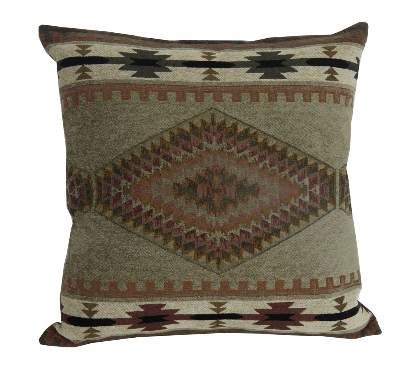 Rustic Throw Pillow Apache Fabric