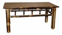 Solid Hickory Shaved Spindle Sides Coffee Table