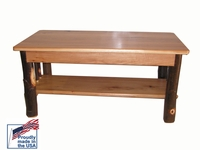"""""""Quick Ship"""" Solid Hickory Top Coffee Table"""