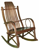 Bentwood Rocker made from solid walnut wood