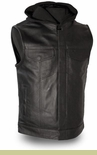 Men's Motocycle Leather  Vest