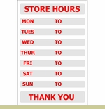 Retail Store Hours