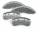 "97-13 Brake Caliper Covers w/""Corvette"" in Silver"