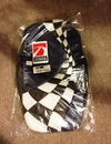 05-13 Custom 2-tone Leather Console Cushion / Lemans Blue - Black Sides- Checkered Flag