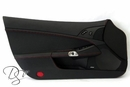 DS Vettes 05-13 Leather Door Panels - Black with Red Stitching