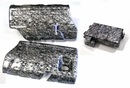 08-13 GM Replacement Fuel Rail Cvrs & GM Fuse Cover - Nightmare Skull Pattern