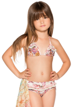 Agua Bendita Kids Swimwear<br>Bendito Canela Swimsuit