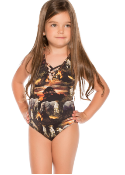 Agua Bendita Kids Swimwear<br>Bendito Selva One Piece