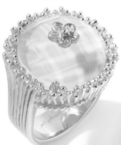 Cupcake Ring Clear Quartz