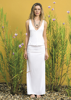 2015 Saha Swimwear<br>Baudo Crochet Maxi Dress in White