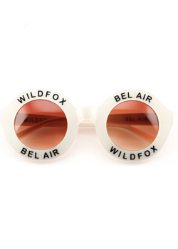 2015 Wildfox<br>Bel Air Pearl White Sunglasses