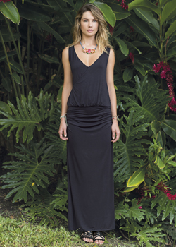 2015 Saha Swimwear<br>Cachalu Crochet Maxi Dress in Black