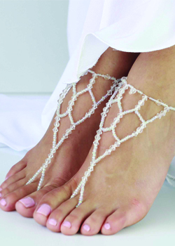 Capri Crystal Beaded Barefoot Sandals