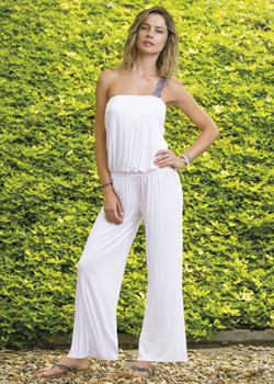 2015 Saha Swimwear<br>Macuira Romper in White
