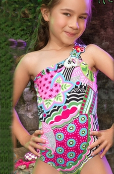 Aqualina Girls One Piece K3010-Aqul