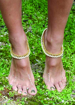 Shanti Gold Anklet