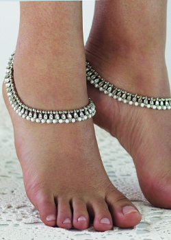 Shanti Silver Anklet