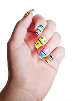 Summer Serape Scratch Nails