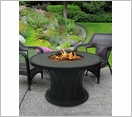 Rodeo Chat Fire Pit Black